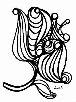 Sarah Loft - Abstract Flower