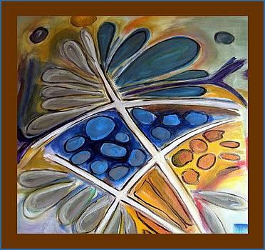 Abstract Flower by Kneki Krtukaj