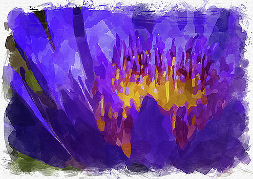 Ricky Barnard - Abstract Flower Watercolor VII