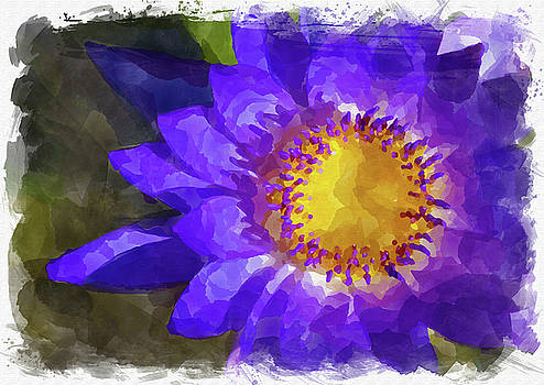Ricky Barnard - Abstract Flower Watercolor VIII