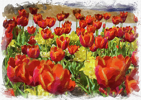 Ricky Barnard - Abstract Flower Watercolor XI