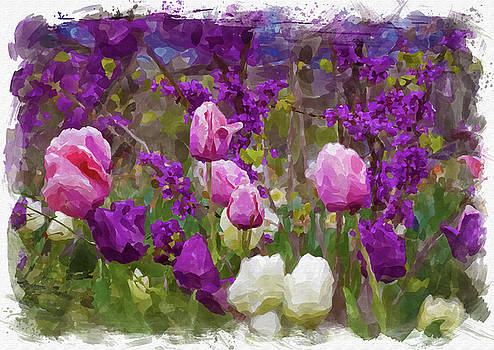 Ricky Barnard - Abstract Flower Watercolor XIII