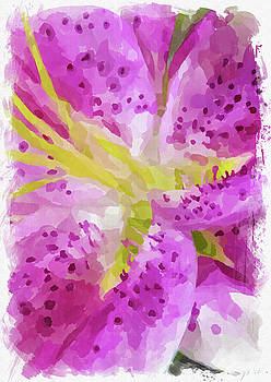Ricky Barnard - Abstract Flower Watercolor XXIV