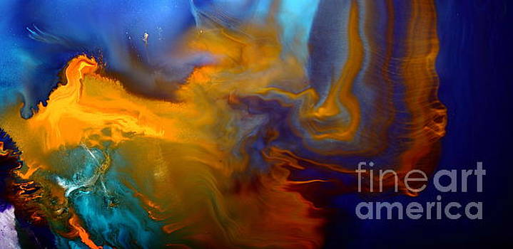 Abstract Fluid Art Escape into the Unknown liquid Painting Macro Photography by kredart by Serg Wiaderny