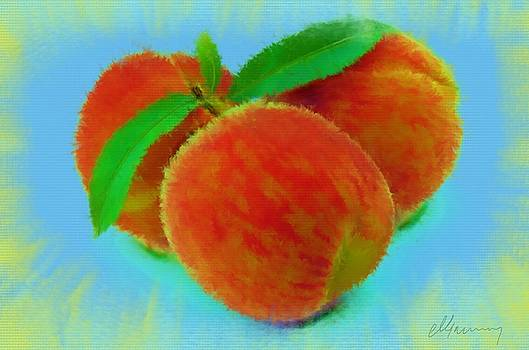 Abstract Fruit Painting by Michael Greenaway