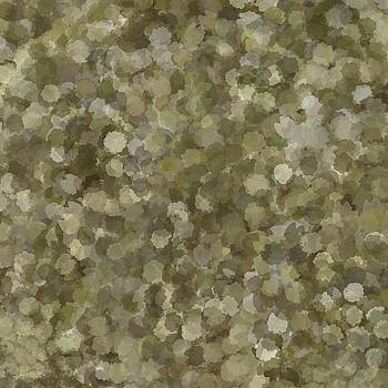 Abstract Gold and Cream 2 by Clare Bambers