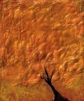 Abstract Gold Tree by Eduardo Tavares