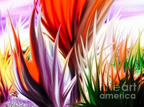 Abstract Grass Series 3 by ElsaDe Paintings