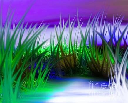 Abstract grass series 4 by ElsaDe Paintings