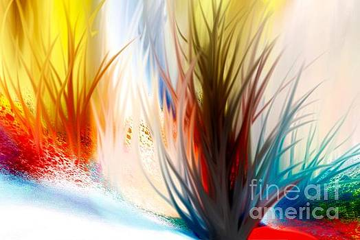 Abstract Grass Series 6 by ElsaDe Paintings