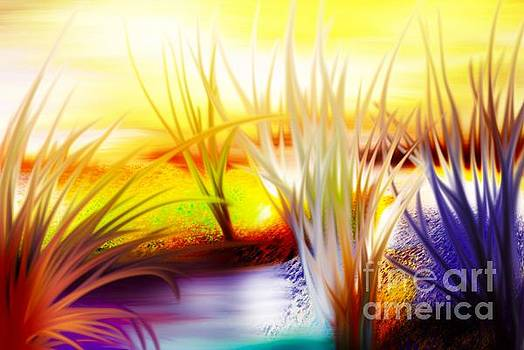 Abstract Grass Series 7 by ElsaDe Paintings