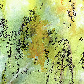 Ginette Callaway - Abstract Green and Yellow