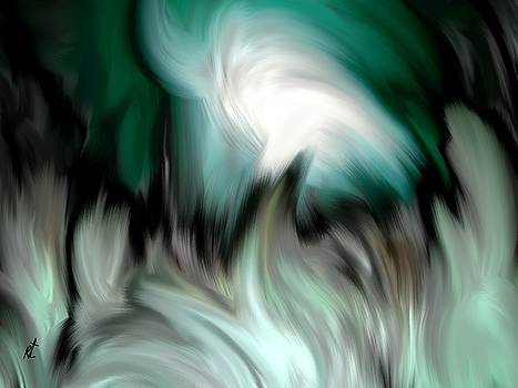 Abstract Green By Rafi Talby by Rafi Talby