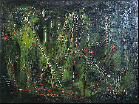 Abstract Green by Zeke Nord