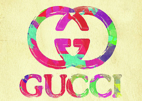 Ricky Barnard - Abstract Gucci Logo Watercolor II