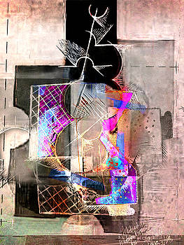 Abstract Guitar in Pink by Kim Gauge