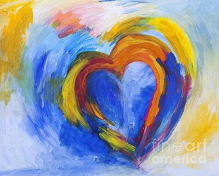 Abstract Heart Painting by Stella Levi