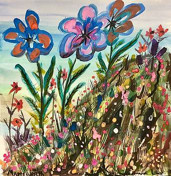 Abstract Hilltop Flowers by Anthony Masterjoseph