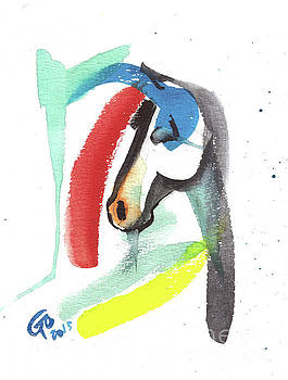 Abstract Horse by Go Van Kampen