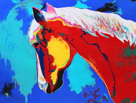 Abstract Horse by M Diane Bonaparte