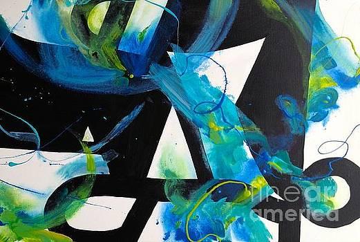 Study in Blue I by Patsy Walton