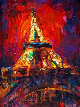 Svetlana Novikova - Abstract Impressionistic Eiffel Tower painting