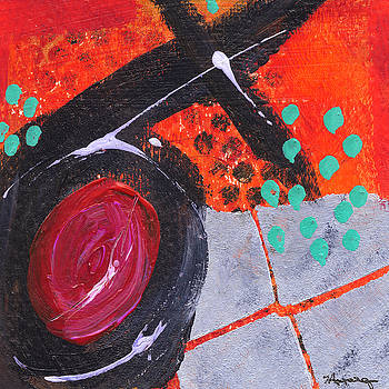 Abstract in Orange by Judy Applegarth