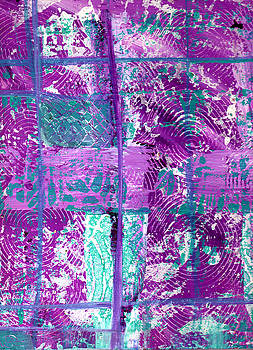 Abstract in Purple and Teal by Wayne Potrafka