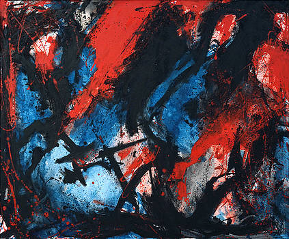 Joe Michelli - Abstract in Red Blue Black
