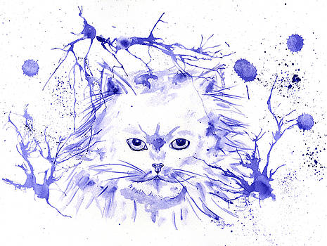 Michelle Wrighton - Abstract Ink - Purple Persian