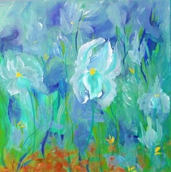Abstract Iris by Jacqueline Whitcomb