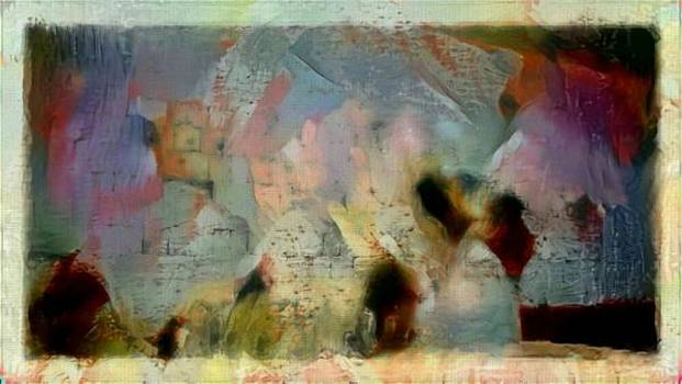 Abstract Kotel western wall Israel holy religious painting by MendyZ