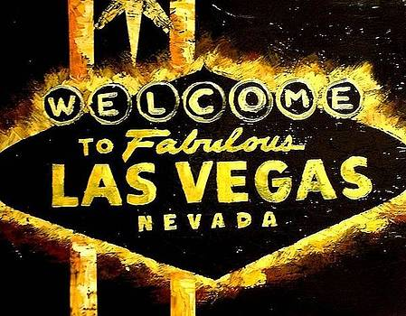 Abstract Las Vegas Sign by Teo Alfonso