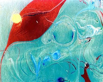 Karin Kohlmeier - Abstract Leaf in a Pool of Water