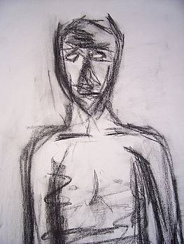 Abstract Male Nude Study- Chest by Samantha  Gilbert