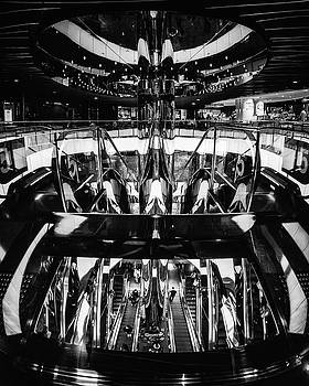 Abstract Mirror World in black and white by Daniela Constantinescu