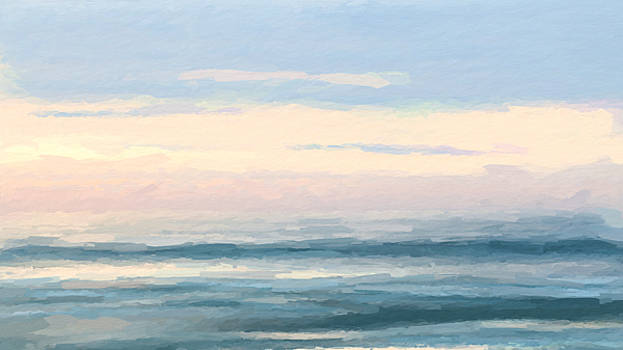 Abstract morning sea by Anthony Fishburne