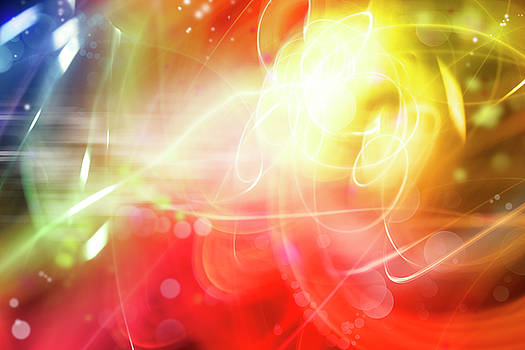 Abstract motion 1 by Les Cunliffe