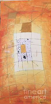 Abstract mosaic in Orange by Agota Horvath