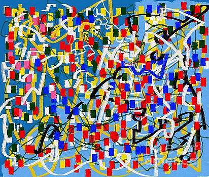 Abstract multicolor blue ing by Eliso Ignacio Silva