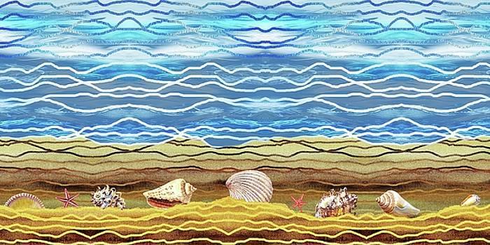 Irina Sztukowski - Abstract Ocean And Sea Shells Beach House Decor
