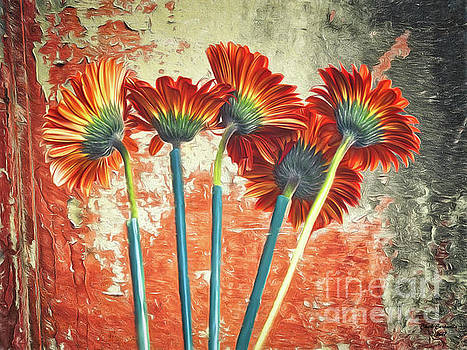 Abstract Of Flowers  ... by Chuck Caramella