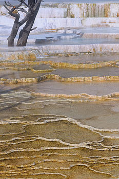 Reimar Gaertner - Abstract of travertine pool ledges at the Main Terrace at Mammot