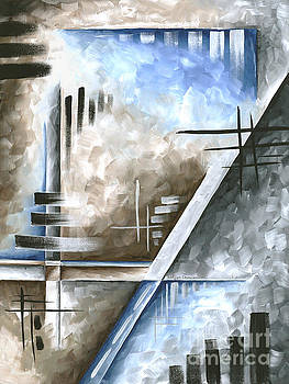 Abstract Original Art Contemporary Blue and Gray Painting by Megan Duncanson Blue Destiny III MADART by Megan Duncanson
