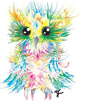Abstract owl by Darren Cannell
