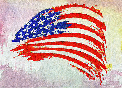 Abstract Painted American Flag by Stefano Senise
