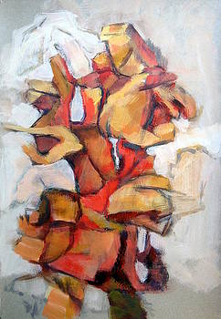 Abstract painting 7 by Alfons Niex