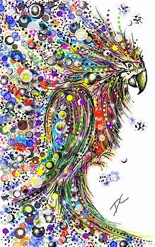 Abstract Parrot by Darren Cannell