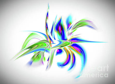 Abstract perfection - Flower Magical by Walter Zettl