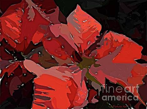 Abstract Poinsettia by Dragica Micki Fortuna